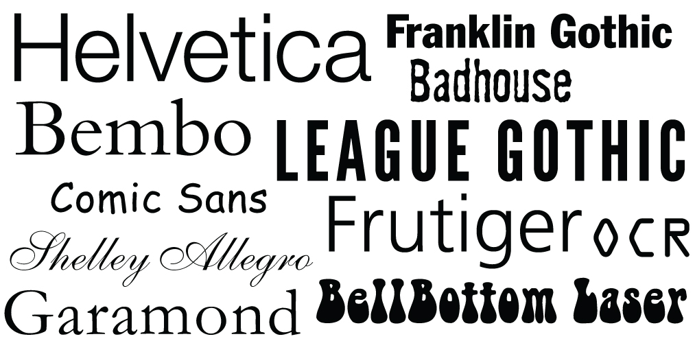 The Many Faces of Typography